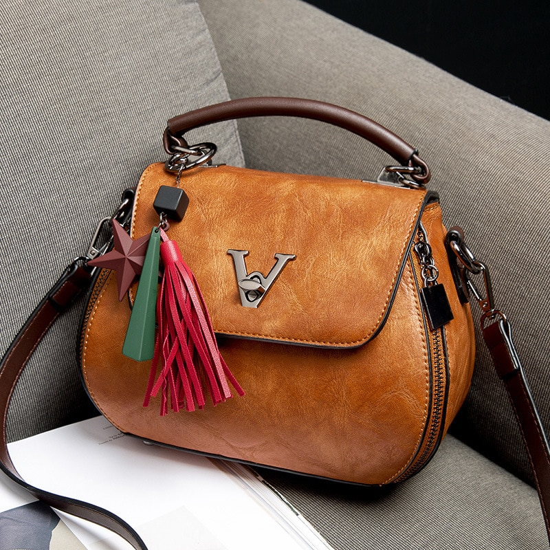 2018 Vintage Woman Geometry Small V Style Saddle Luxury Handbags Crossbody For Women Famous Brands Messenger Bags Designer