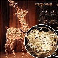 30m 300 leds ac220v eu plug led string light colorful holiday led lighting christmasweddingpartyhome decoration lights