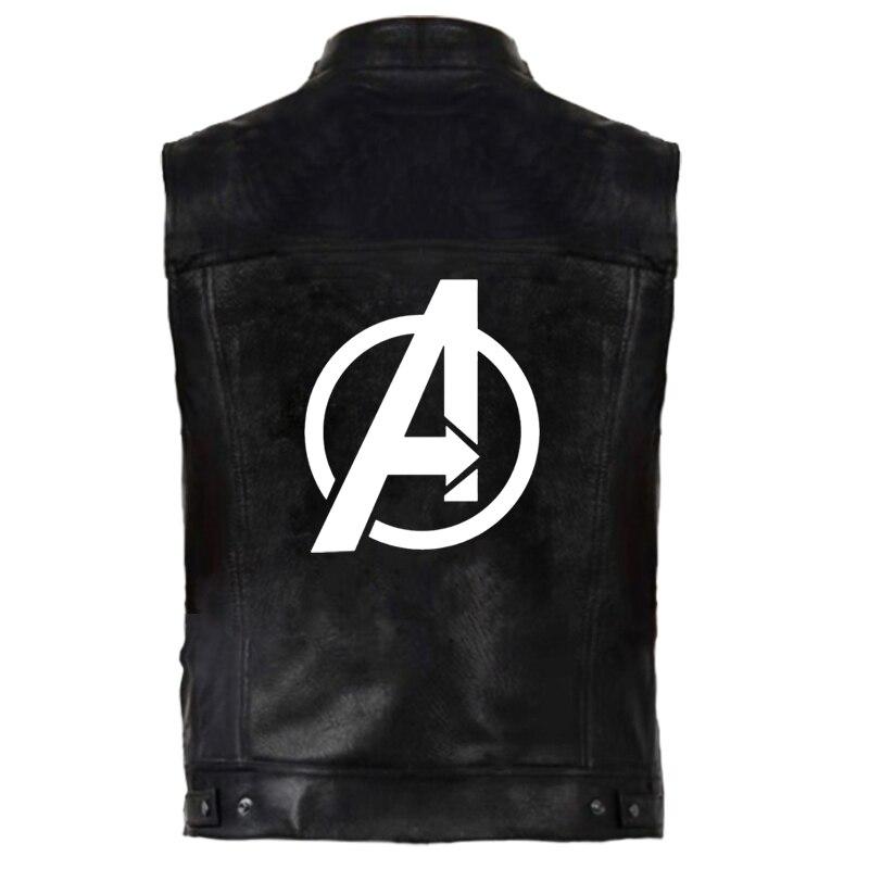 Chalecos de cuero los Vengadores chaleco hombre Iron Man Tony Stark chaquetas sin mangas Punk Rock chaleco Hip Hop abrigo ropa de calle