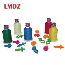 LMDZ 5/10/20 pièces porte-canette à coudre de haute qualité pinces à fil multicolores bobines de stockage sur le dessus des bobines de fil