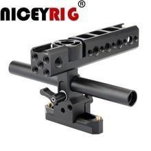 NICEYRIG ручка для камеры с креплением для крепления на решетке NATO Rail 15 мм зажим для штанги для холодного башмака для Sony для Panasonic для стабилизации видеокамеры Nikon