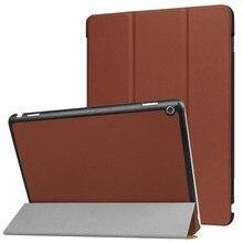 Housse étui pour huawei MediaPad M3 Lite 10 pouces housse de protection en cuir PU triple pli housse support pour tablette