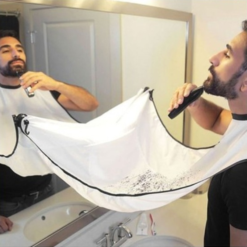 Male Beard Apron Men Shaving Aprons Beard Care Clean Beard Catcher Hair Cleaning Bathroom Accessories Father Boyfriend Gift