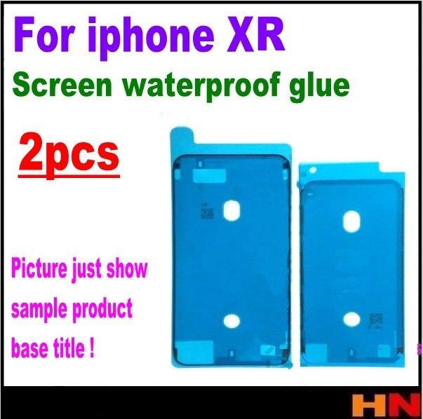 2 unidades para iphone XR 6,1 impermeable 3M adhesivo pegamento frontal carcasa LCD pantalla táctil marco negro