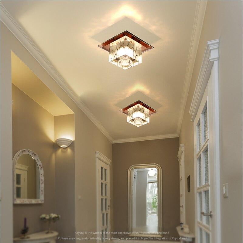 مصباح سقف LED كريستالي مثبت على السطح ، تصميم جديد ، إضاءة داخلية مزخرفة ، مثالي لغرفة المعيشة ، الممر أو الشرفة