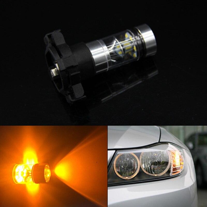 2 x Sem Flash Hiper Branco Amarelo Âmbar PH24WY PY24W Lâmpadas LED Para BMW E92/E93 3 F10/ f07 5 Série E83/F25 X3 E70 X5 E71 X6 Z4