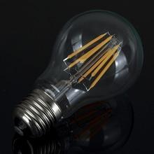 6 Pçs/lote A60 Dimmable Espiral Vintage Lâmpada AC 110-220 V 2 W 4 W 6 W Filamento Lâmpada LED 8 W E27 Flexível Macio Para Bar em casa decorar