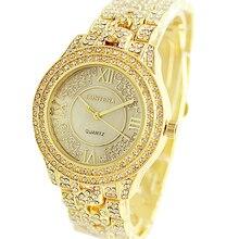 2020 Ladies Wrist Watches Fashion Dress Gold Watch Women Crystal Diamond Watches Stainless Steel Female Clock Women Montre Femme