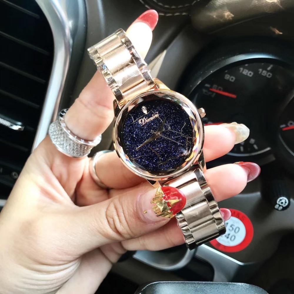 ساعة يد نسائية ، أنماط برق رائعة ، أزياء محايدة ، سوار فولاذي كامل ، كوارتز ، كريستال متعدد الأوجه