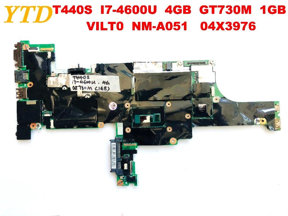 الأصلي لينوفو T440S اللوحة المحمول T440S I7-4600U 4GB GT730M 1GB VILT0 NM-A051 04X3976 اختبار جيد شحن مجاني