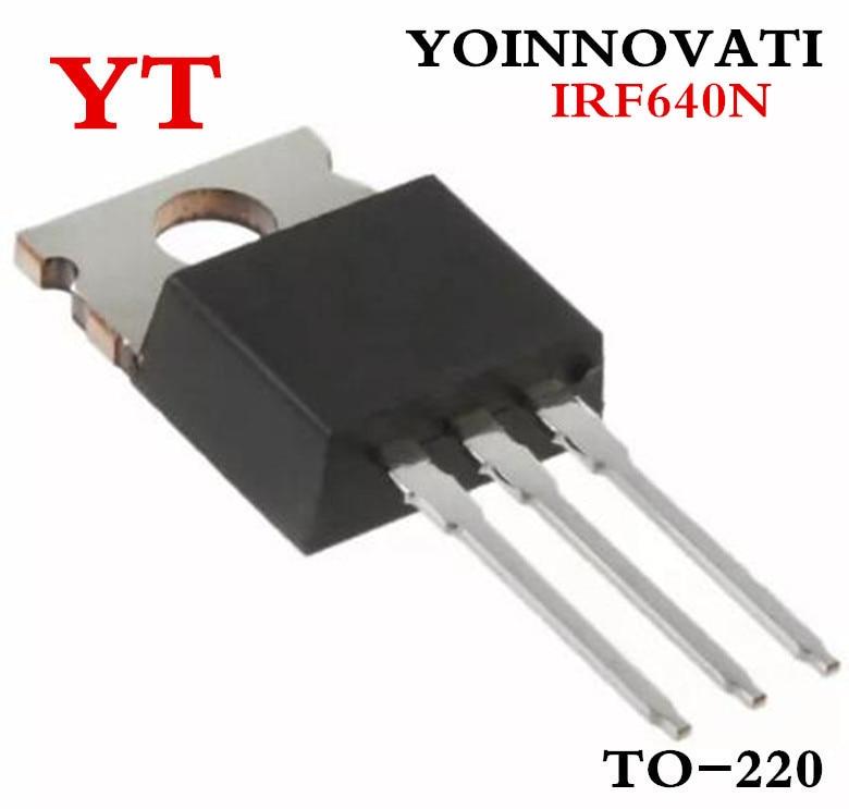 100 قطعة/الوحدة IRF640NPBF IRF640N IRF640 MOSFET N-CH 200V 18A TO-220AB