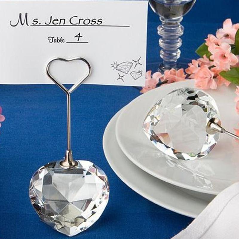 Großhandel Fabrik Direkt Verkauf Hochzeit Gunsten Glänzende cut Kristall Diamant Aussehen Platzkartenhalter 10 stücke