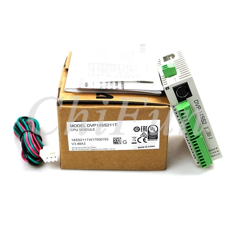Controlador programable de potencia de 14 puntos 8DI 6DO (transistor NPN) Serie SS2 PLC SS2 Delta DVP14SS211T