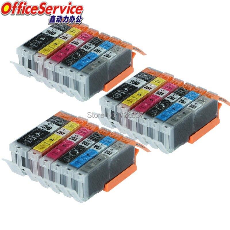 Cartucho de Tinta Compatível Para Canon PGI 250XL 18X PGI-250XL PGI250XL PIXMA CLI 251 CMY GY MG6320 MG5420 MX722 MX922 iP7220