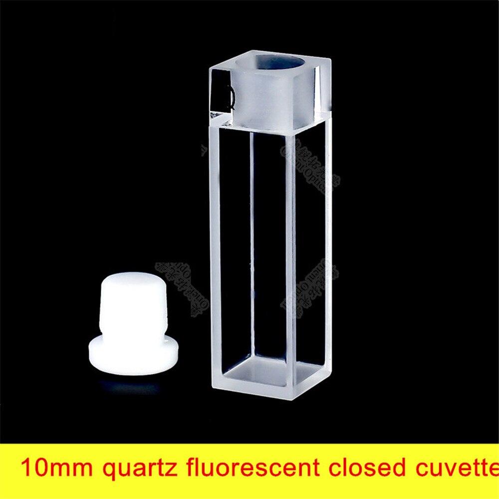 Cuvette à quartz fluorescente de 10mm, quatre passages légers/1cm/transmission de lumière sur les quatre faces