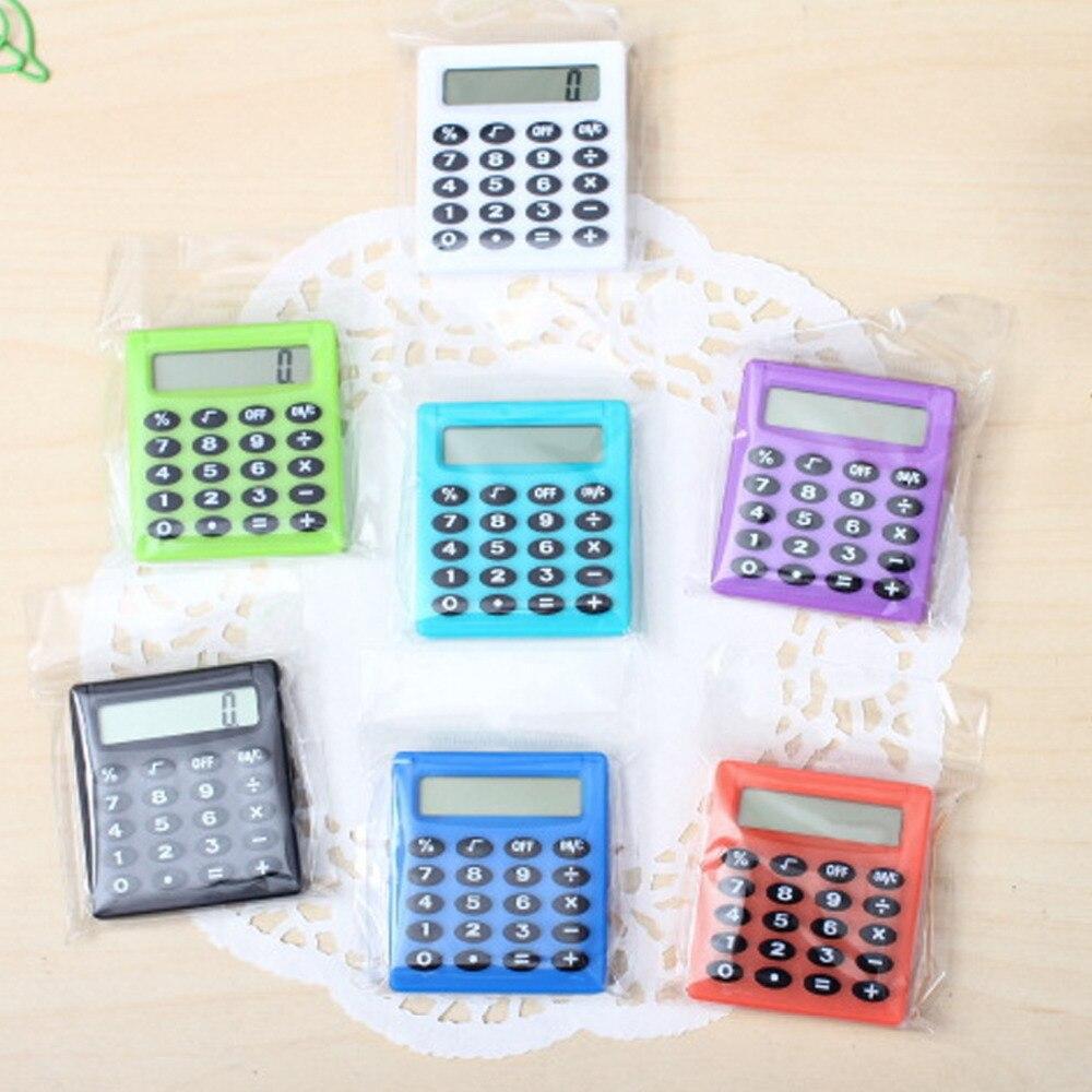 Noyokere dos desenhos animados bolso mini calculadora ha ndheld tipo de bolso moeda baterias calculadora carregam extras