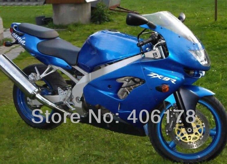 Kit clásico de carrocería de carenado completo ZX 9R ZX9R 98 99 para Ninja ZX9R 1998 1999 Kit de carenado azul para motocicleta