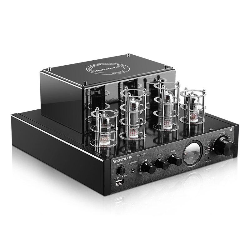 Nobsound MS-10D/MS-10DMKII de alta fidelidade 2.0 casa áudio tubo amplificador entrada usb/bt/aux fone de ouvido amplificador 25 w + 25 6p1*2 6n1*2 ac220v