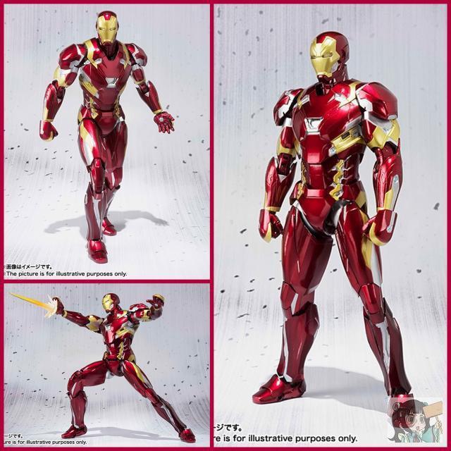 Ironman MK46 ב מארוול נוקמי קפטן אמריקאי מלחמת אזרחי פעולה דמויות צעצועי חג המולד מתנת יום הולדת