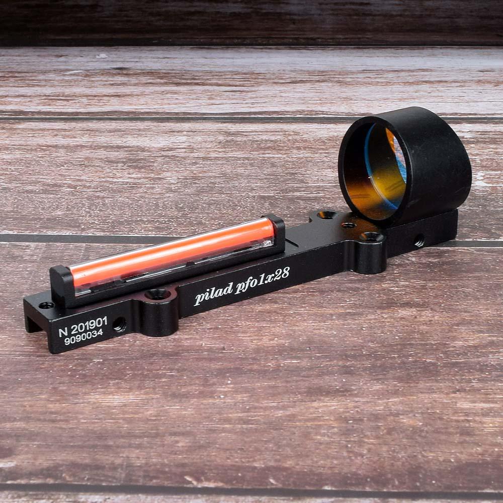 Tactical fiber red circle dot sight rifle scpoe Red/Green Fiber Optics 1x 28 Collimator Dot Holographic Sight Target Range