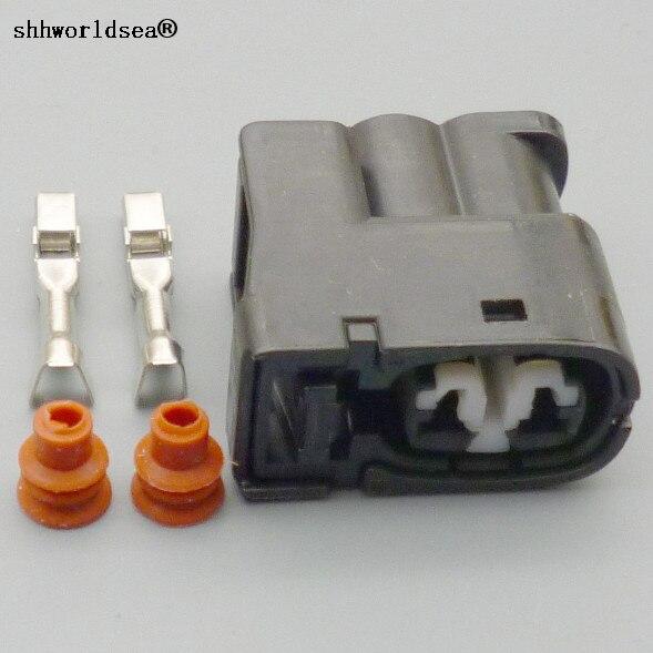 shhworldsea 2 Pin Female Injector Auto Connector 90980-11246 7283-8226-30 For Toyota 2JZ-GE Matrix Lexus SC300 Hyundai Mazda RX