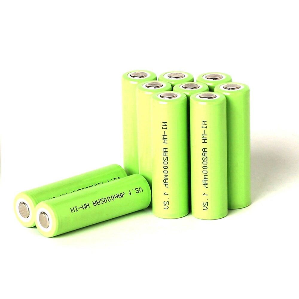 Gtf 1.2 v aa 2000 mah ni-mh bateria recarregável aa bateria 2a baterias para câmera brinquedos energia aspirador de pó bateria
