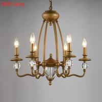 Loft Iron Chandelier Lamp For Restaurant Apartment Classical Chandeliers Rustic Vintage Bedroom Hotel lighting fixtures lamparas