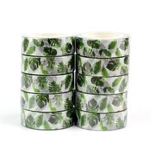 10 teile/los Dekorative Tropical palm blätter Washi Tapes Papier DIY Scrapbooking Planer Adhesive Masking Bänder Kawaii Schreibwaren