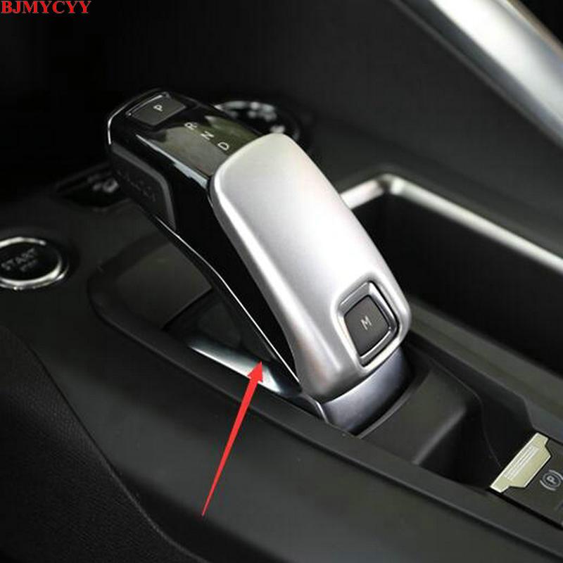 Аксессуары для интерьера BJMYCYY 2017 Peugeot 3008, чехол для рычага переключения передач, отделка из АБС-пластика