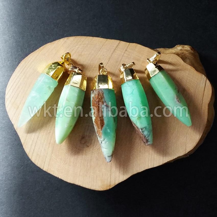 WT-P661 الطبيعي شريسوبراسي رصاصة قلادة قلادة مجوهرات على الموضة رصاصة قلادة للنساء في 24 k الذهب تقليم