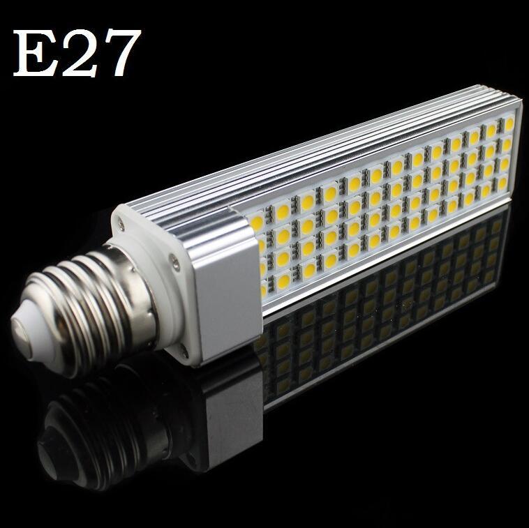 E27 G24 LED 11 W bombilla de maíz PL lámpara Bombillas de luz SMD 5050 52 LED 180 grados AC85-265V para casa decoración envío gratis