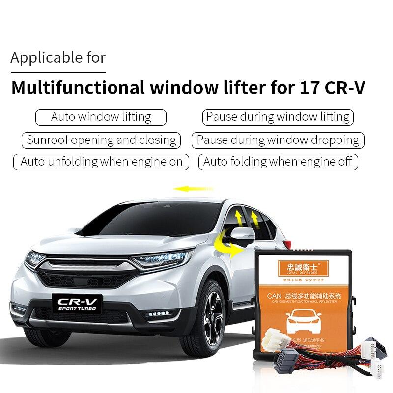 Janela do carro Auto close folding espelho teto solar perto de bloqueio de velocidade para Honda CRV-5 2017/10th civic 2016-2017 /10th accord 2018