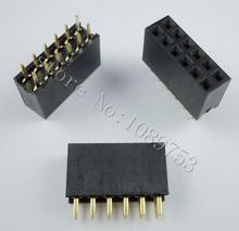50pcs 2x6 Pin 2.54mm Double Row Female Pin Header 12P PCB Socket Connector