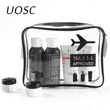 UOSC Transparent lavage maquillage trousses de toilette pour femmes/hommes imperméable voyage cosmétiques stockage neceser clair TPU sac cosmétique