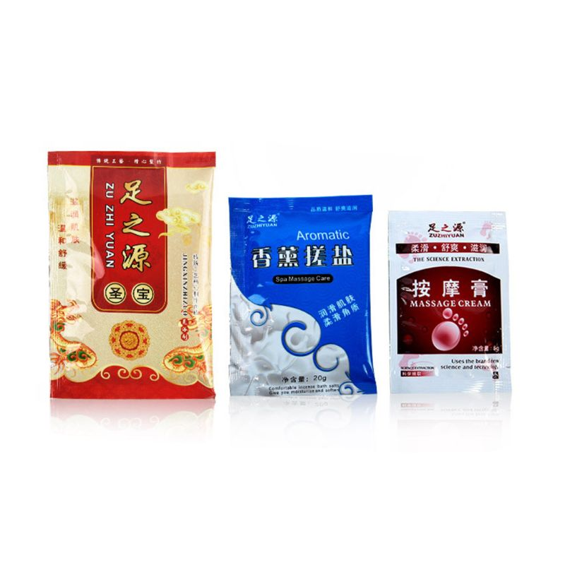 3Bags/Set Footbath Chinese Herbal Powder Exfoliating Bath Salt Massage Cream Pedicure SPA Nail Treatment Detox Foot Soak Relief