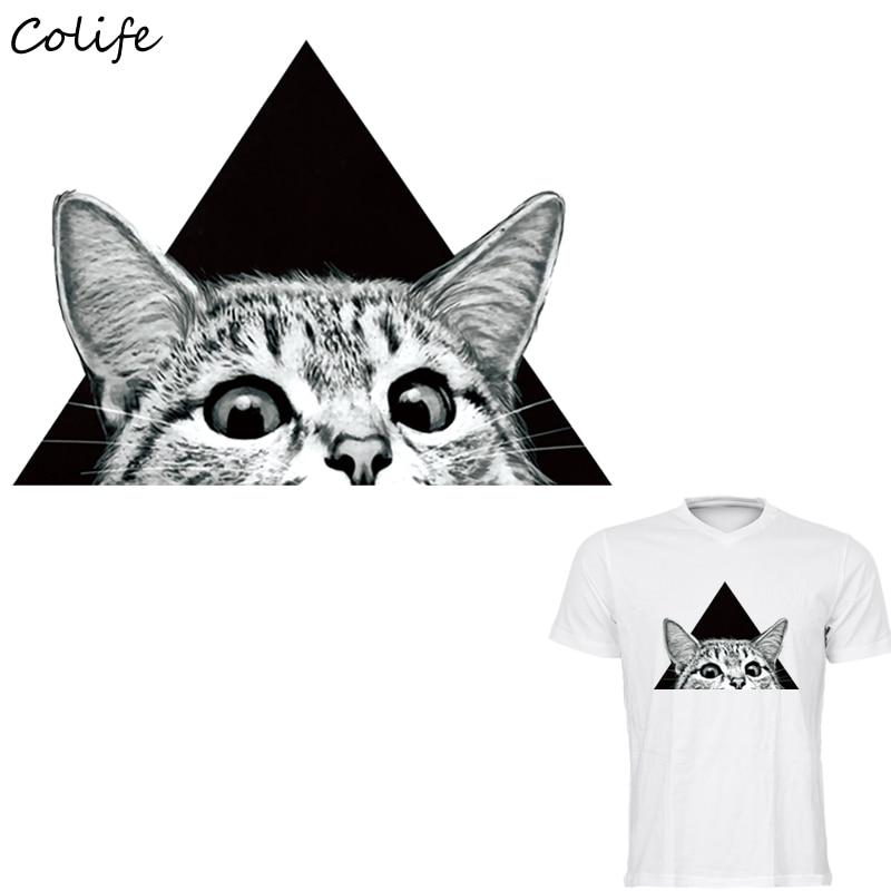 Наклейки для одежды с принтом кошачьих глаз на футболке, аксессуары для самостоятельного изготовления, новый дизайн, украшения одежды, моющиеся парчи, пара La Ropa 25x18см