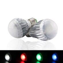 E14 E27 RGB Led lamba ışığı ampul motion sensörü 12 V Led ampul 110V 220V ışık lamba akıllı ev 24Key uzaktan kumanda