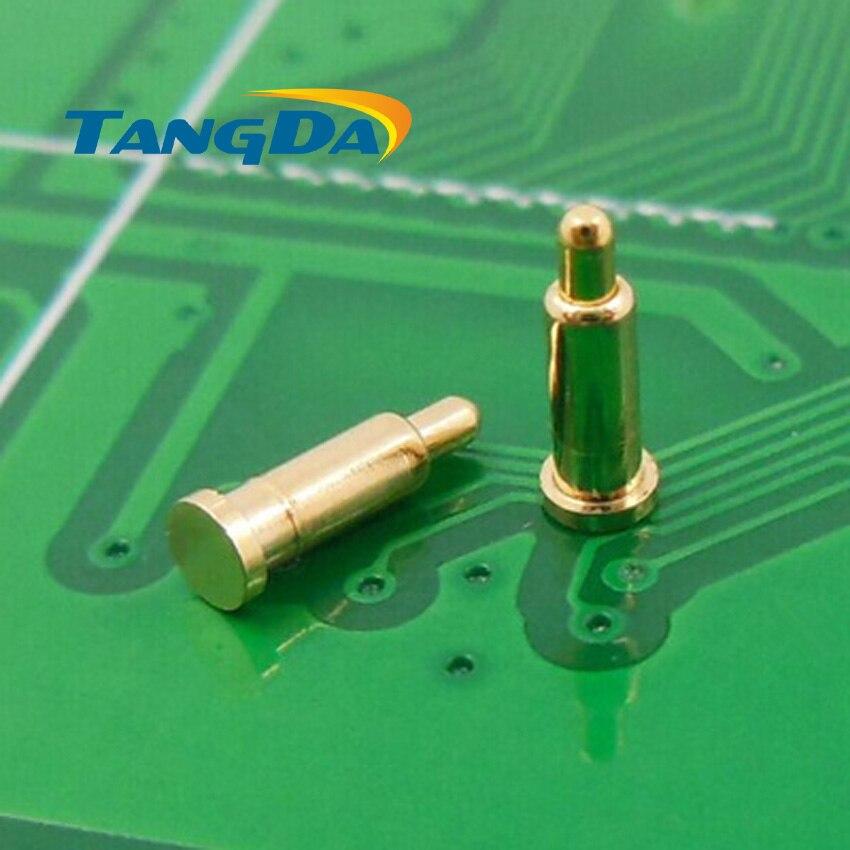 Tangda DHL/EMS D2 * 7 مللي متر 1000 قطعة بوجو دبوس موصل الهواتف النقالة بطارية الربيع 1P كشتبان سطح جبل SMD لوحة الذهب 1u