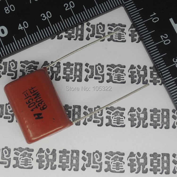 Envío gratis la broca del fruto del café condensador 10 unids/lote 630 V 105J 1 UF P = 20 MM Condensador de película