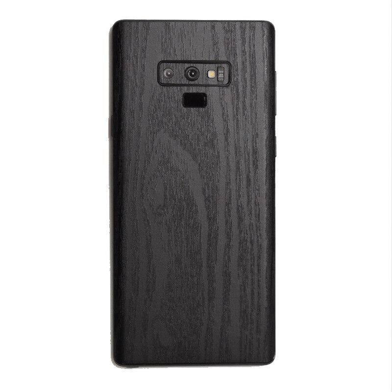 Etiqueta engomada de grano de madera Camo Piel de cuero de la piel del teléfono pegatina trasera para SAMSUNG Galaxy S10 Plus S10e S9 + S8 S7 Edge Note 9 8 5 A750 A9 2018