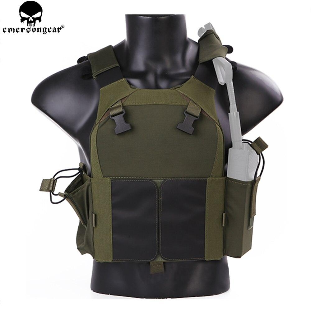 EMERSON NEW Tactical Vest Hunting Bulletproof Vest Airsoft emersongear Plate Carrier Molle Waistcoat Combat Assault Vest EM7353