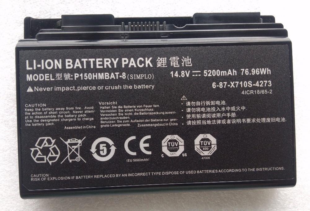 X710S P150HMBAT-8 6-87-x710s-4271 6-87-X710S основная батарея для Terrans Force X711 для clevo P170 P170HM P170SM P170EM NP9170
