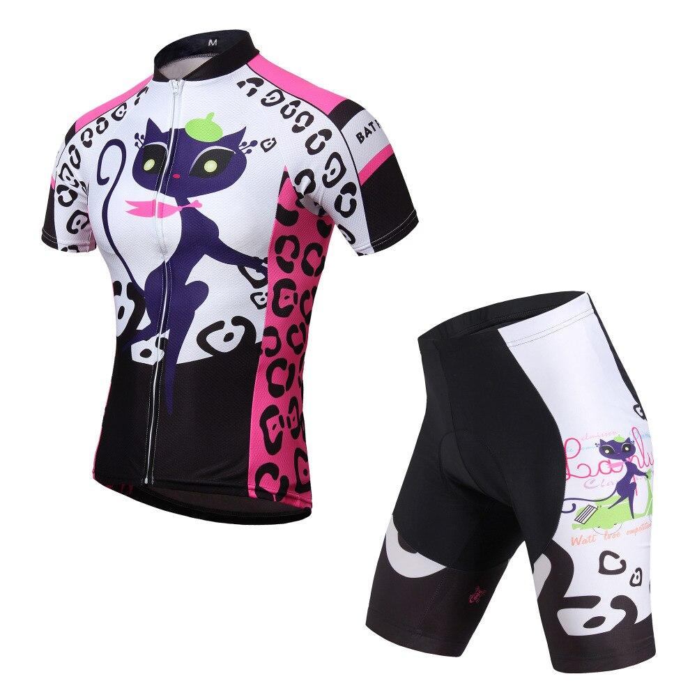 Ropa Ciclismo Wielertrui Sets Vrouwen sport pak Gewatteerde Korte Sets Wielerkleding Korte Mouw Fietsen Pakken Dragen Zomer
