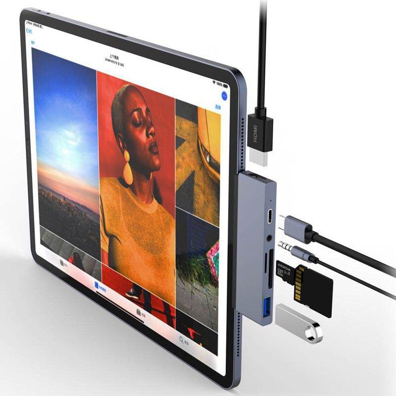 Mosible USB C Hub HDMI Adapter mit USB-C PD TF SD USB 3,0 3,5mm Jack Port USB Typ C dock für iPad Pro 2018 Macbook Pro/Air