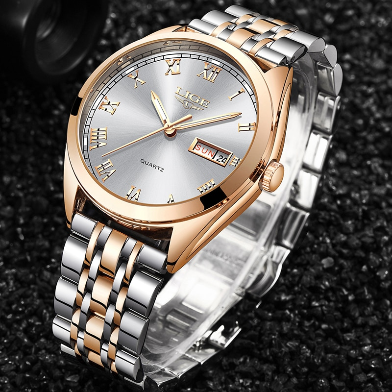 LIGE New Rose Gold Women Watch Business Quartz Watch Ladies Top Brand Luxury Female Wrist Watch Girl Clock Relogio Feminin+Box enlarge