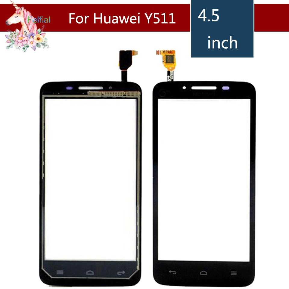 "4,5 ""para Huawei Ascend Y511 LCD Digitalizador de pantalla táctil de vidrio exterior reemplazo del panel de la lente"