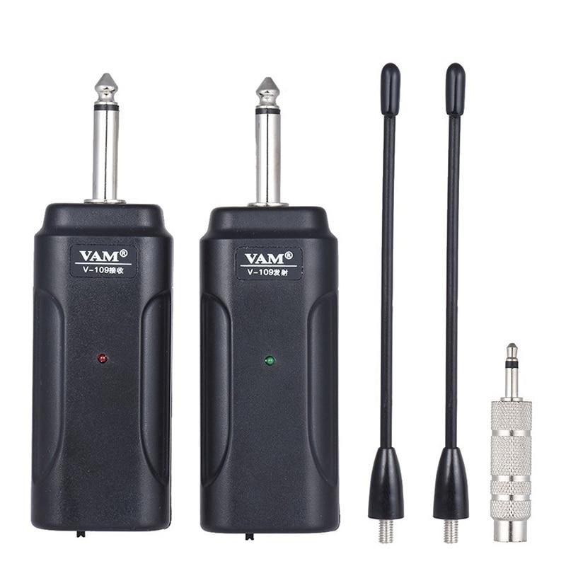 Transmisor receptor de guitarra inalámbrico portátil para guitarra eléctrica bajo violín eléctrico instrumento Musical Wireles