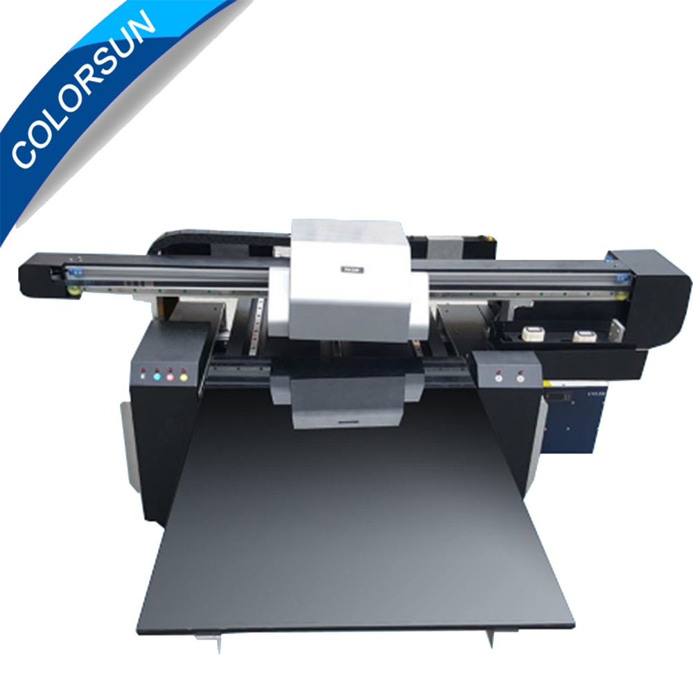 Impresora acrílica UV de cama plana de 12 Colores 6090 para uso en madera, impresora led con bolígrafo uv de 60x90