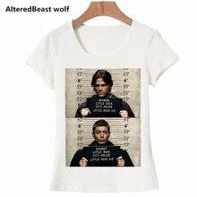 Frauen T Damen Supernatural Becher Schuss Ausgestattet weiß T-shirt Offizielle Frauen Mädchen Winchest Mode Marke Lustige T Hemd
