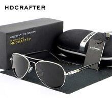 HDCRAFTER lunettes de soleil à lentille polarisée   Pour hommes/femmes, lunettes de conduite de pilote, lunettes de soleil classiques en alliage, Oculos de sol masculino